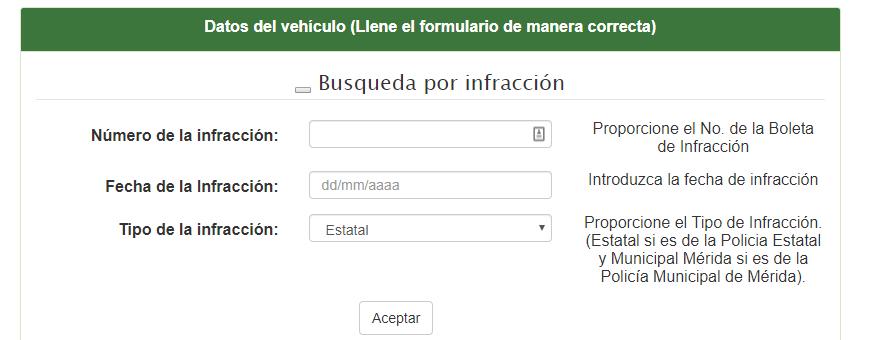 Consulta Pago Infracciones Yucatan