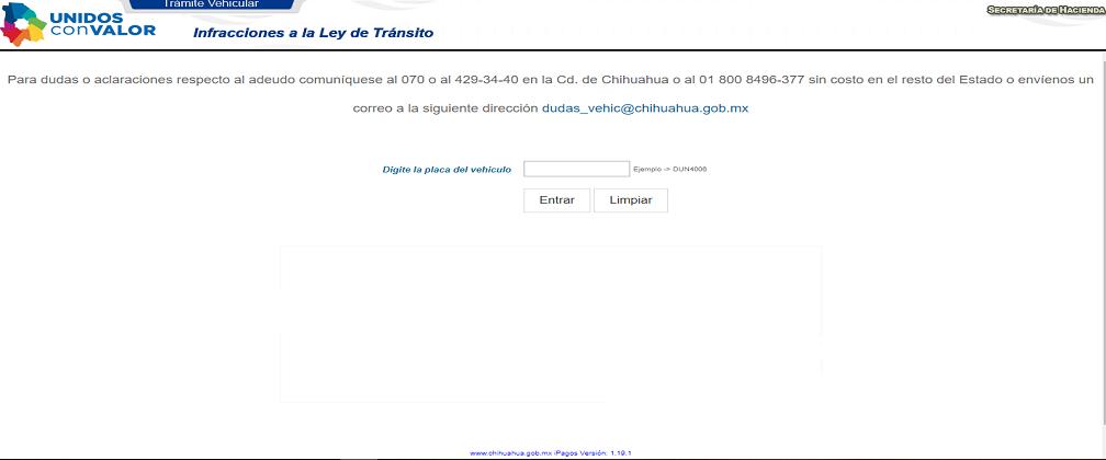 Sitio web de la municipalidad de Chihuahua